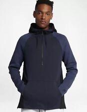 New Nike Tech Fleece Sportswear Half Zip Hoodie Obsidian 884892 451 Men's sz XL