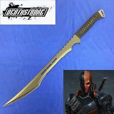 Deathstroke Full Tang Black Blade Tactical Ninja Machete & Sheath