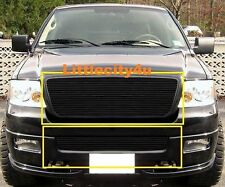FOR 2006 07 08 Ford F150 F-150 Black Color Billet Grille Combo bolton