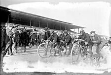 "1915 Motor Cycle Race 20""x14"" old photo, bike, Racing, Laurel, Maryland, vintage"