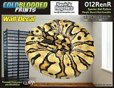 Removeable Wall Decal Snake Ball Python Cold Blooded Prints Sticker 012RenR