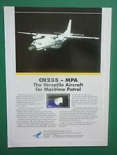 11/1991 PUB IPTN CN235 MPA MARITIME PATROL AIRCRAFT CASA ORIGINAL AD