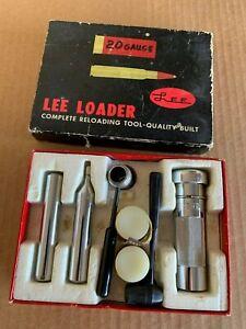 Very Good Lee Loader 20 Ga Reloading Die Set 20 Gauge
