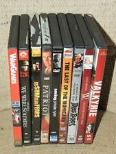 Lot of 9 Military Action Dvds. Valkyrie, Das Boot, Saving Private Ryan, War Game