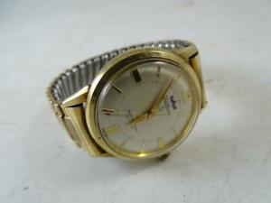 Vintage Waltham 25 Jewels Self-Winding Men's Wristwatch Watch Gold Filled Retro