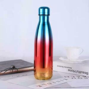 Stainless Steel Water Bottle Vacuum Insulated Metal Sport & Gym Drinks Flask