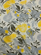 Yellow & Grey Forest Floral Printed 100% Cotton Poplin Fabric