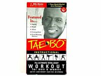 Red Billy Blanks Tae Bo Instructional Ultimate Total Body Workout in VHS tape