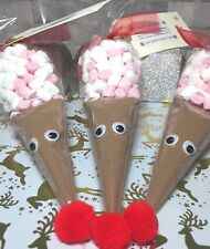 Christmas Eve Box Filler Reindeer CADBURY Hot Chocolate Cone Stocking Filler