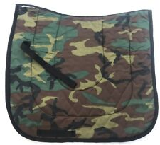"""Green Camouflage"" Army Dressage Saddle Pad Novelty"