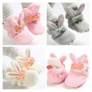 Birthday Newborn GIFT Baby Girl Warm Shoes Infant Rabbit Booties Faux Fur Boots
