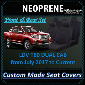 Waterproof Neoprene Seat Covers for LDV T60 Dual Cab Ute: from 07/2017 - Current