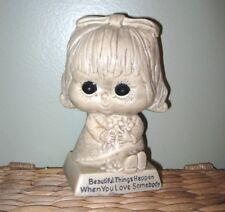 Vintage 70s W & R Berries Co. Unbreakable Beautiful Things Happen Girl Figurine