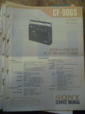 Sony CF-900S Radio Cassette Corder   Service Manual