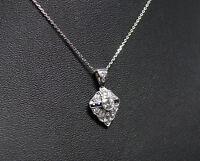 Art Deco Goldanhänger mit 1ct Diamanten und Saphiren | 585er Gold | +585er Kette