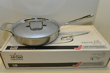 all clad d5 brushed stainless 3 qt saute pan 5 ply new in box