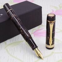 LIY Marble Resin Acrylic Fountain Pen Schmidt Nib & Converter F Gift Box-Chaifei