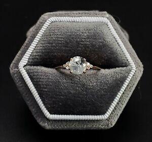 New in Box 14k Rose Gold Salt & Pepper Natural Diamond Ring Est. CTW .75-BBJ1537