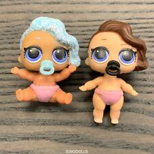 2x LOL Surprise Dolls Lil Little Sisters surfer babe & splash queen  mbjus