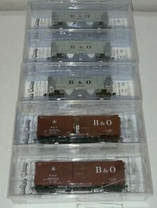 5 HO Kadee Cars Baltimore & Ohio B&O  Lot 2. B&O  Railroad Historical Society