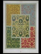 VELOURS RENAISSANCE - LITHOGRAPHIE 1877 - DUPONT-AUBERVILLE, ORNEMENT, TISSUS
