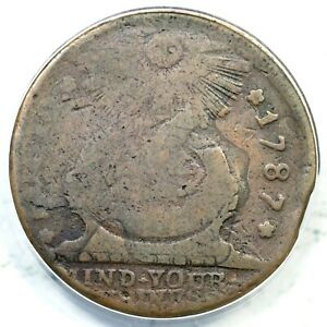 1787 15-Y ANACS G 4 Pointed Rays Fugio Colonial Copper Coin