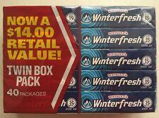 x40 Winterfresh Chewing Gum from Wrigleys USA (40x5 stick=200ct) BBD SEP2021
