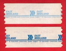 East Midland Motor Services ~ 2 Wayfarer Bus Tickets - Early Staecoach Era c1990