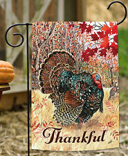 NEW Toland - Wild Turkey - Fall Autumn Bird Thankful Thanksgiving Garden Flag