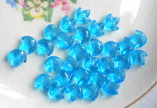 Qty 24 NEW 9mm Sapphire Blue Porphyr Striped CZECH GLASS Flat Back Cabochons