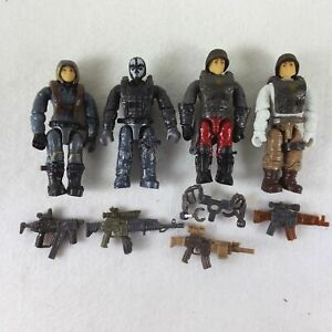 Mega Bloks Construx Call of Duty Soldier Mini figures with Guns - Lot of 4pcs