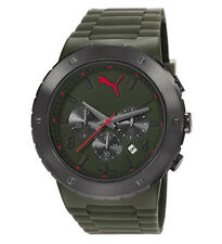 Puma Men's Blast Chronograph Quartz Watch Display Silicone Strap RRP $180 Offer!