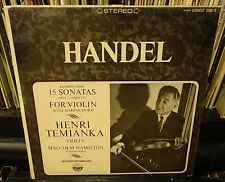 sealed HENRY TEMIANKA excerpts from HANDEL 15 SONATAS for VIOLIN limited Promo
