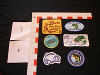 hunting, fishing, camping, hiking, collector, vintage patch set