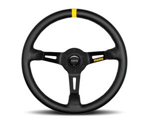 """MOMO Steering Wheel Mod 08 Black Leather 350mm  """"US Dealer"""""""