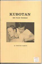 1st Printing KUBOTAN New Police Technique Takayuki Kubota 1978 RARE