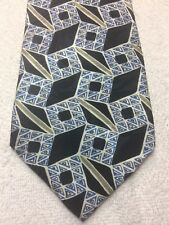 OLEG CASSINI MENS TIE BLACK WHITE BLUE GRAY 4 X 57 NWT