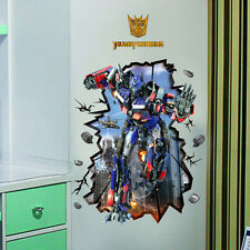 70X100cm Transformers Autobots 3D Wall Decals Removable Sticker Kids Art