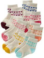 Old Navy Days of the Week Baby Girl Socks by 7's (GBSK-29), Size: 6-12 Months