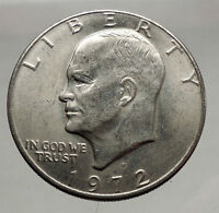 1972  President Eisenhower Apollo 11 Moon Landing Dollar USA Coin  i46149