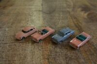 Lesney Ford Zodiac Convertible + Citroen Peach Grey Wheels Lot of 4 England