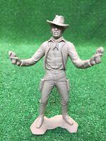 Vintage Louis Marx & Co. Large Plastic Cowboy Gunslinger Western Toy Figurine
