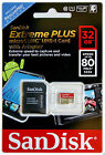 SanDisk Extreme PLUS Micro SD Memory Card 32GB Class 10 GoPro MicroSDHC + Gift