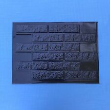 12 pcs MOLDS RAGGY BRICK for concrete plaster wall brick tiles
