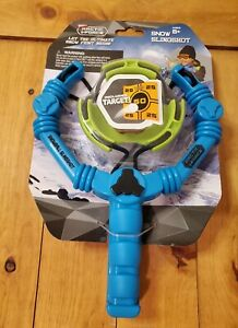 Wham-O Arctic Force Snowball Slingshot And Target Blue/Green Winter Fun NEW!