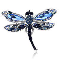 Insect Dragonfly Rhinestone Brooches For Women Fashion Jewelry Retro Pins Beauty