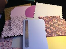 """New - 10 X mixed card blanks & shapes approx 6"""" X 8"""" with envelopes"""