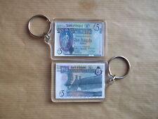Banco de Irlanda de £ 5 nota Llavero, Bushmills, doble cara.