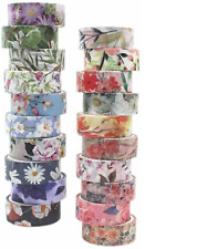 Washi Tape Floral Pack - 20 Rolls Japanese Flower Tape with 0.6 inch Wide x 4.4