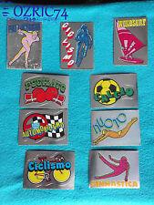 Lotto 9 scudetti Figurine Supersport Panini 1986 con velina Mint Sticker